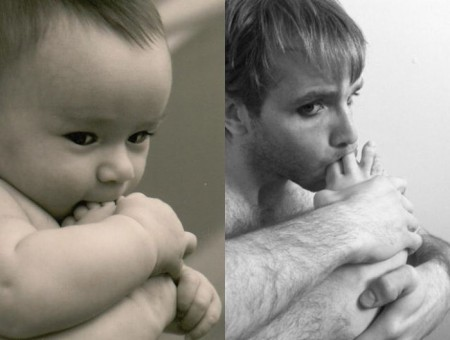 a_weird_dude_reenacts_scenes_in_baby_photos_11
