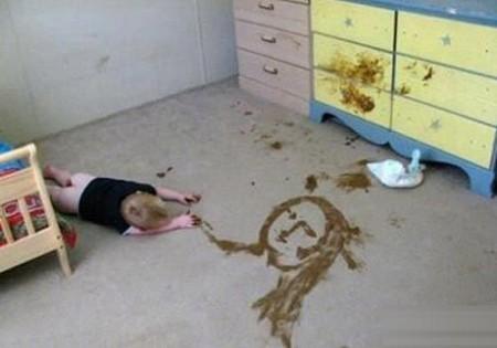 funny shit art baby daipaer