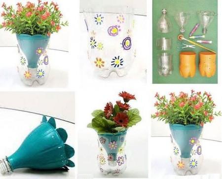diy vase from plastic bottle