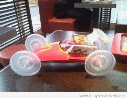 funny macdonald race car