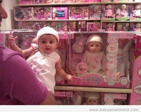 funny sell baby doll