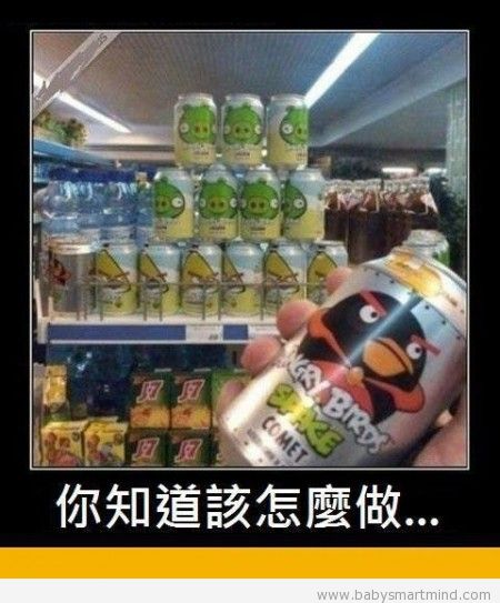 funny angry bird can cola