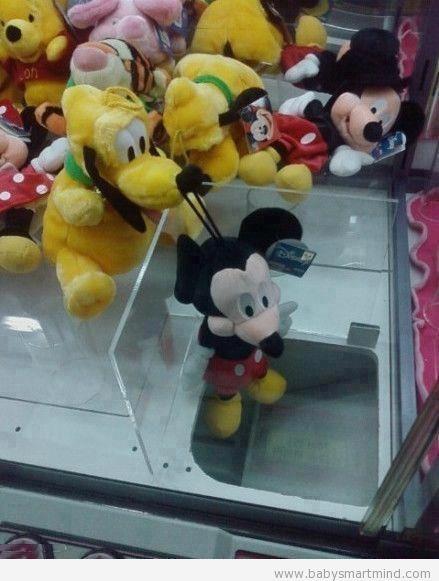 funny doll vending machine mickey